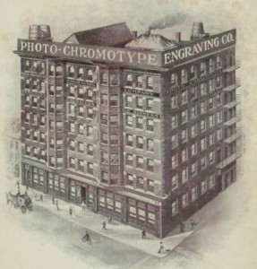 Engraving of the Miles Building when it was first completed | Source: [Photo-Chromotype Engraving Company sales brochure] [1900] In the David A. Hanson Collection. The Sterling and Francine Clark Art Institute Library