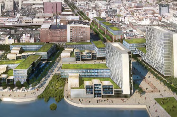 """""""Master Plan for the Central Delaware's Festival Pier Rendering, showing the redevelopment of the entire 11-acre site."""" 