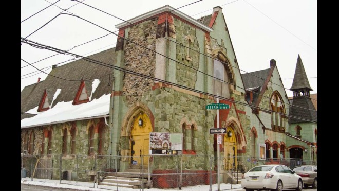 """Before restoration efforts began, chunks of the stone facade of the Frank Furness-designed 19th Street Baptist Church were crumbling to the street and the roof was caving in."" 