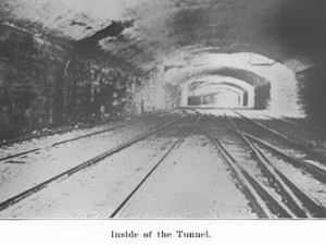 A vintage look at the inside of the Fairmount Park Tunnel. | From the Journal of the Engineers' Society of Pennsylvania (1916).
