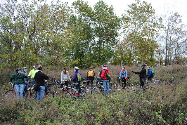 Cyclists on Bartram's Mile. Photo: Philly Bike Coalition on Flickr, via the Knight Foundation