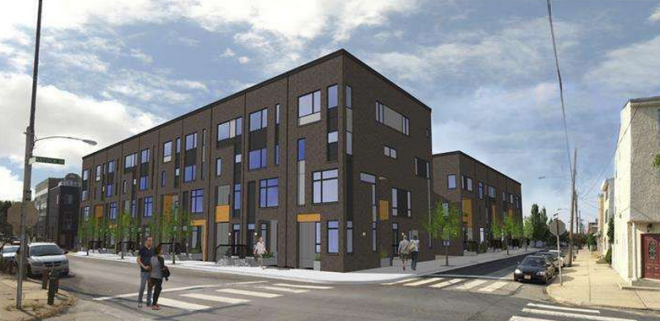 The twenty new homes will face the Hancock Playground.