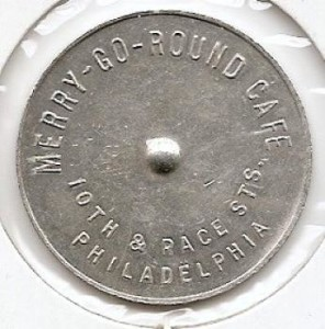 Token from the Merry-Go-Round Cafe's 10th and Race location | Source: TokenCatalogue.com