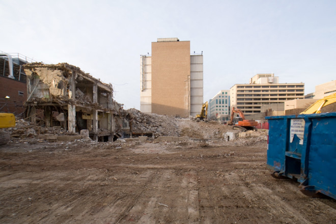 All that's left of Temple's Old Medical School Building | Photo: Bradley Maule