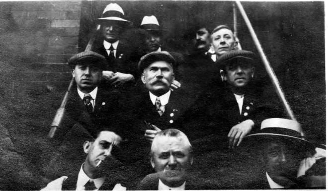 Club members on stairs, 1930s   Photo courtesy of Dottie Arabia