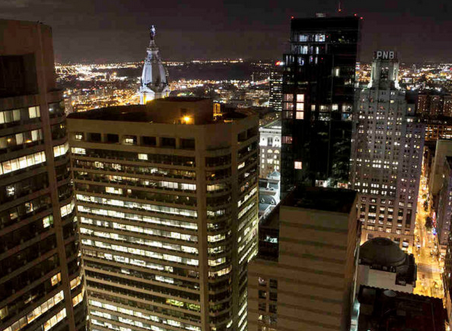 """The view of the Center City skyline from R2L. Philadelphia now ranks second only to Midtown Manhattan when it comes to people who live in the heart of the city."" 