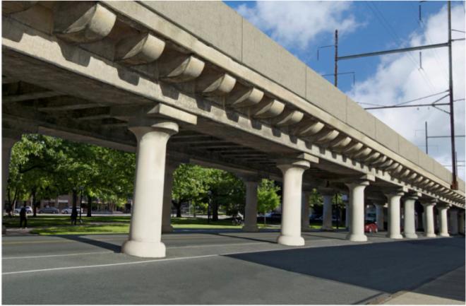 """""""Artist Rendering of Refurbished 25th Street Viaduct"""""""