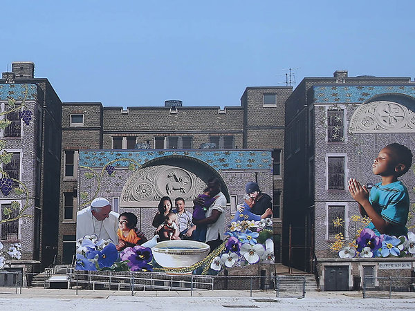 A rendering of the mural | Photo: David Maialetti, for the Daily News