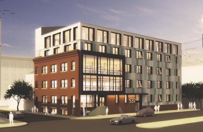 """North rendering, Finnigan's Wake conversion"" | Atkin Olshin Schade Architects"