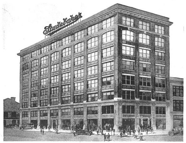 Rendering of the Studebaker Building | Source: Automotive Industries, Volume 37