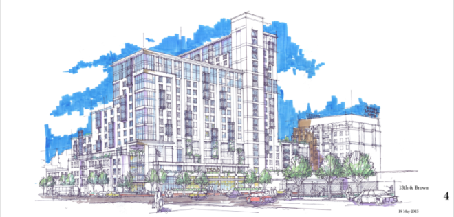 A rendering of the proposed RAL Companies project at 13th & Fairmount