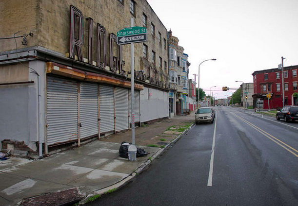 """The intersection of Ridge Avenue and Sharswood Street shows the blight that is plaguing the area."" 