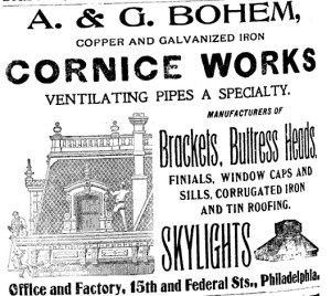 A & G Bohem Ad from 1900 | Source: Boyd's Co-Partnership and Business Directory of Philadelphia City