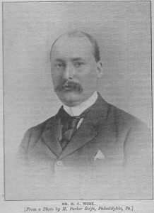 Milton C. Work in 1897 | Source:  Cricket: A Weekly Record of the Game
