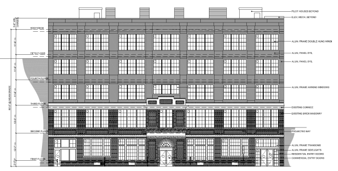 Plans for Spring Garden elevation of the new apartment project | Courtesy: Harman Deutsch Architecture