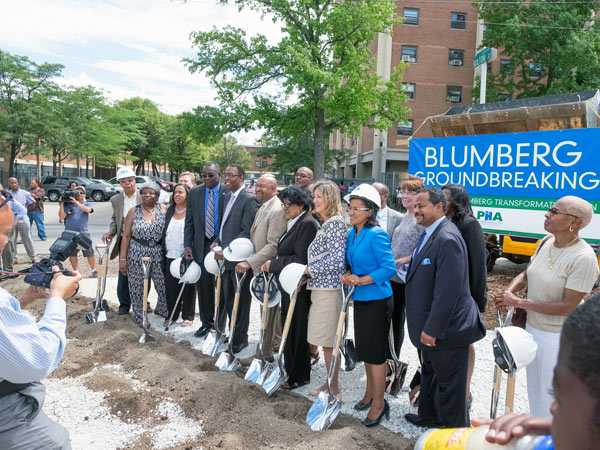 """""""Dignitaries at the groundbreaking ceremony"""" 