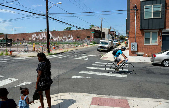 """Developer Ori Feibush has proposed building 22 rowhouses on the vacant lot at 20th and Wharton Street in Point Breeze."" 