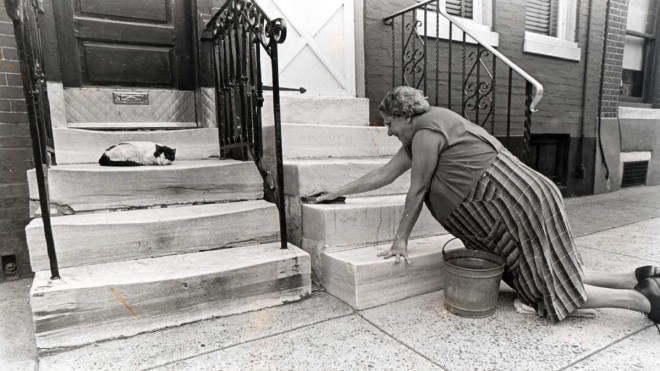 "A 1972 photo entitled ""Sparkling Steps,"" taken by Neil Benson"