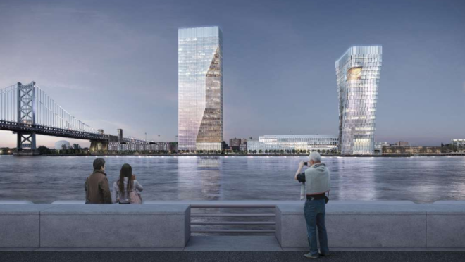Rendering of view of The Camden Waterfront | Robert A.M. Stern Architects