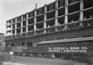 Construction of the Terminal Commerce Building in 1930 | Photo courtesy of www.phillyhistory.org