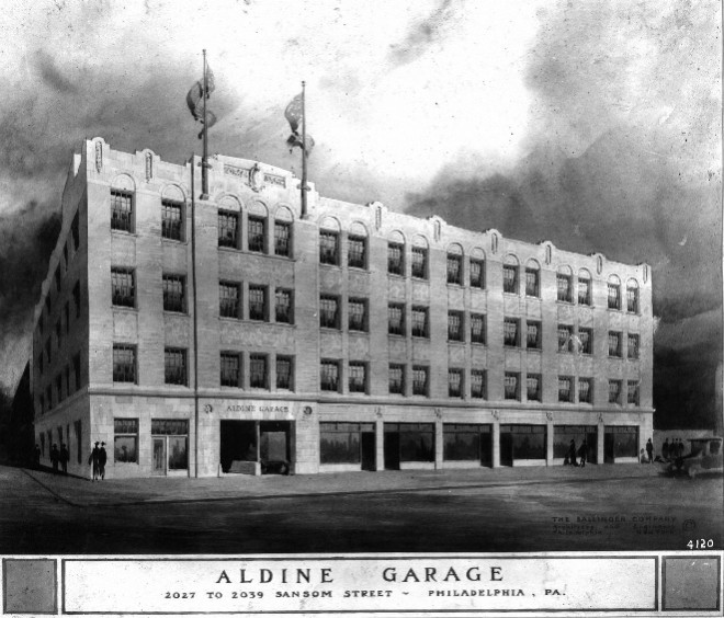 Rendering of the Aldine Garage | Source: Ballinger Collection, Athenaeum of Philadelphia