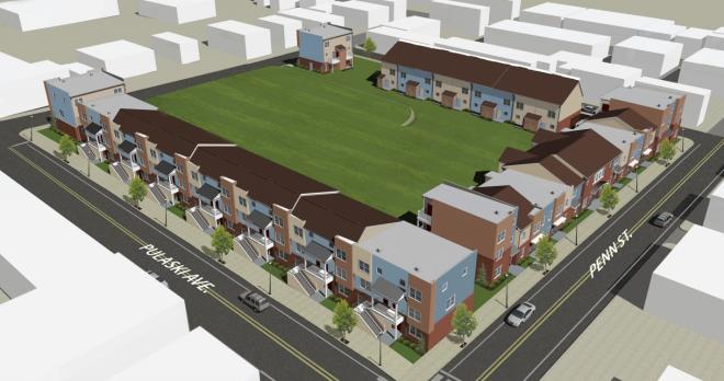 Rendering of the new Queen Lane Apartments   Philadelphia Housing Authority