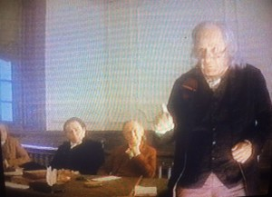 Benjamin Franklin (Eli Wallach) dispenses some sage advice in drafting the U.S. Constitution | Film still: 20th Century Fox