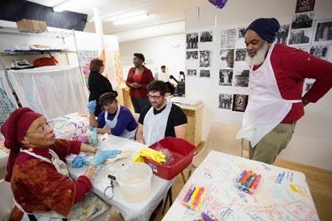 Artists-in-residence assisting residents share their dreams for a better West Philadelphia | Photo: Neighborhood Time Exchange, via West Philly Local