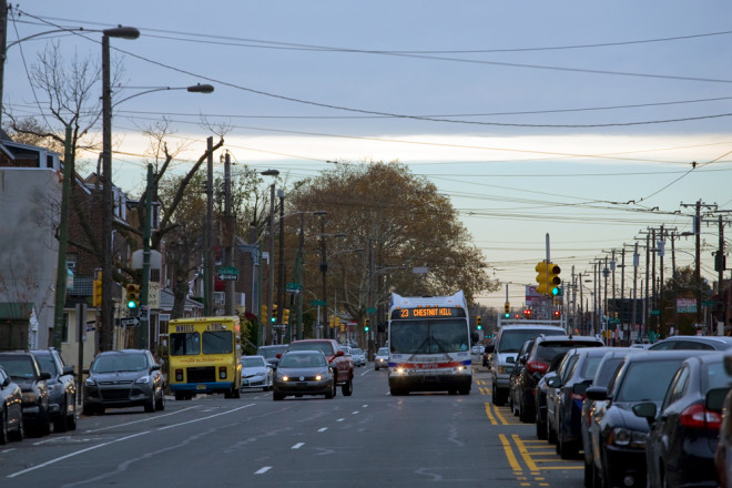 Endangered species: A 23 bus prepares to turn north onto 11th Street in South Philly from Oregon Avenue. Come Sunday, this shall be no more | Photo: Bradley Maule
