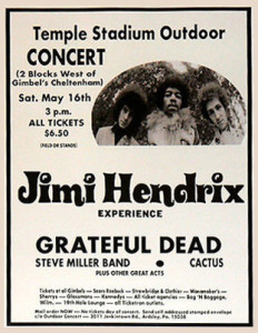 Jimi & the Dead do West Oak Lane | Image via ConcertPosterArt.com