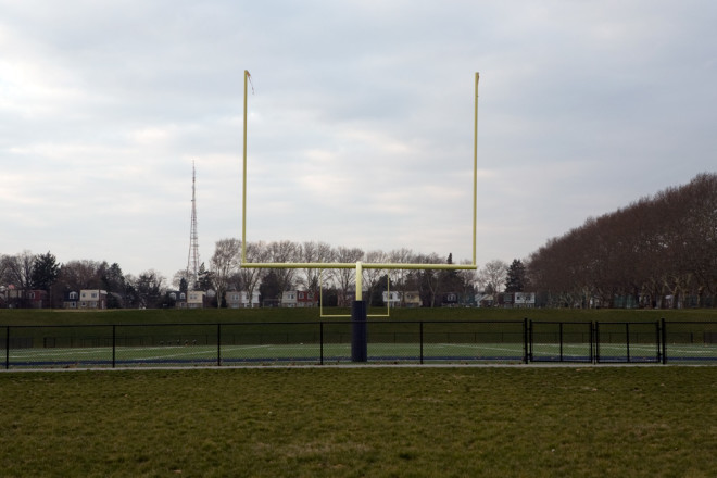 It may not look like much now, but these goalposts once served Temple Owls—and Philadelphia Eagles—faithful | Photo: Bradley Maule