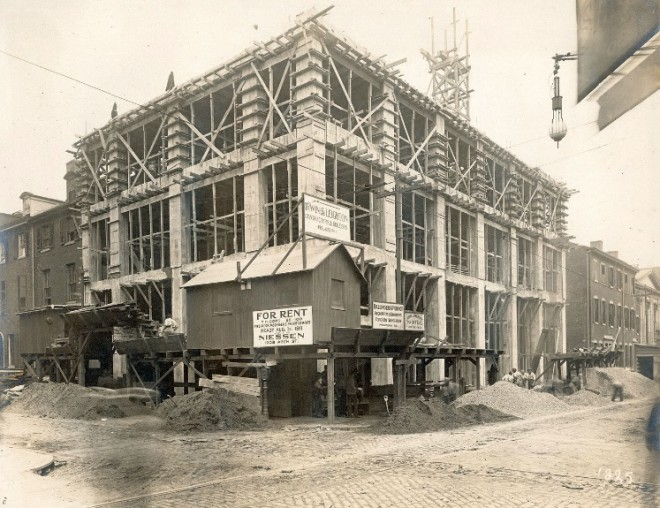 Niessen Building Under Construction | Source: Ballinger Collection,