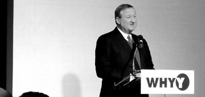 Mayor jim Kenney speaking at the PCPC's annual Philadelphia2035 update