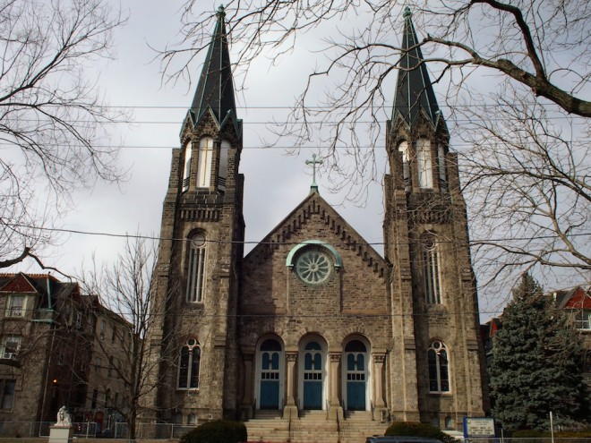 Our Mother of Sorrows at 48th and Lancaster was closed in January 2013. The parish was merged with merge with neighboring St. Ignatius of Loyola | Photo: Nathaniel Popkin
