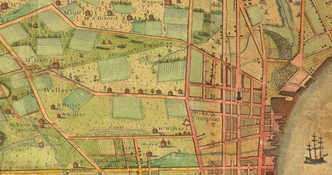 Map detail of Northern Liberties in 1802 | Map: Charles P. Varle,