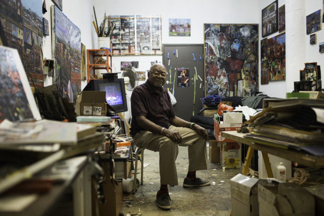 Leroy Johnson in his studio, 2014 | Photo: Ryan Collerd, The Pew center for Arts and Heritage