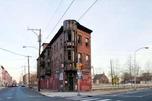 The Checker Club, where jazz greats once played, is the last  building standing on a triangular piece of land along Ridge Avenue   Photo: Peter Woodall