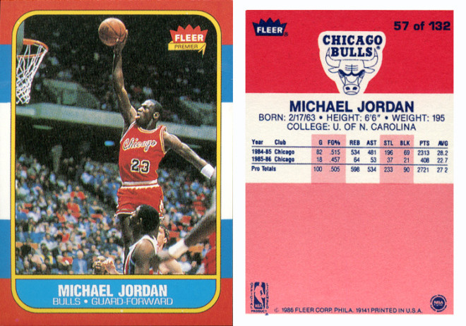 """©1986 Fleer Corp. Phila. 19141"" 