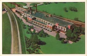Fleer's Gum factory postcard, ~1950s | via Topps Archive