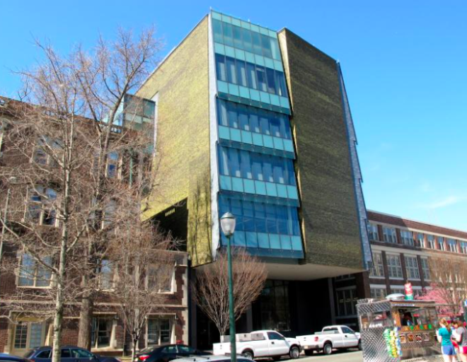 The decade-old building at 210 South 33rd Street is both audicious and unassuming, argues admiring architect Jeff Pastva.   Photo: Ashley Hahn, for Plan Philly