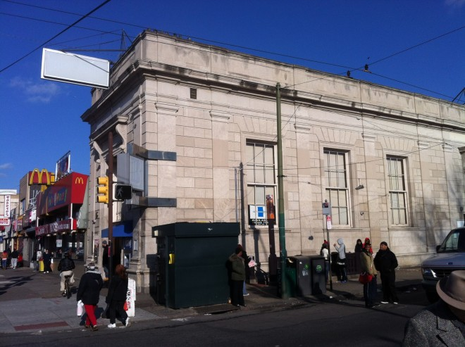 Developers are seeking the variances needed to convert this 1920s bank on the northeastern corner of Broad & Snyder into a Wendy's franchise. | Photo: Passyunk Post