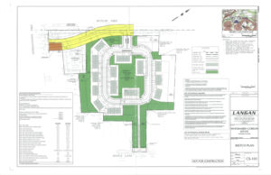 Subdivision sketch plan for the Corson Estate