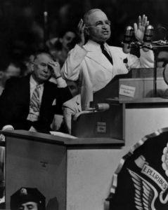 Harry S. Truman speaks at the Democratic National Convention in 1948 at Convention Hall | Photo: Harry S. Truman Presidential Library