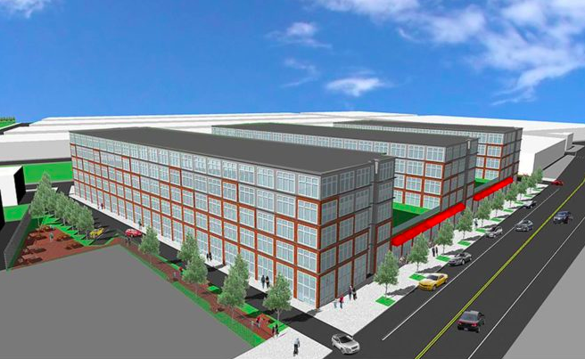178 apartments have been proposed for a 87,000-square-foot industrially zoned parcel at 2621 Frankford Avenue. | Rendering: Robert Anthony Peralta Architect