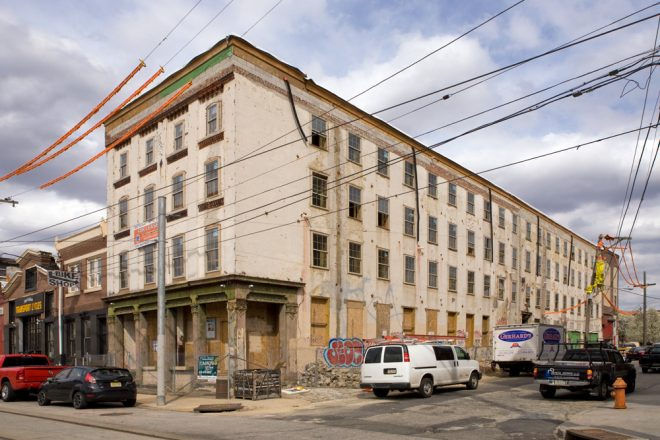 Former hosiery mill and elevator factory at 1101 Frankford Avenue | Photo: Bradley Maule