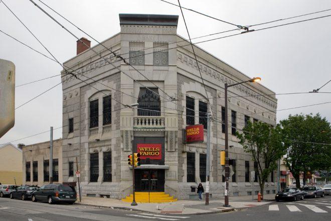 Furness goes grayscale: Kensington National Bank, corner of Frankford & Girard | Photo: Bradley Maule