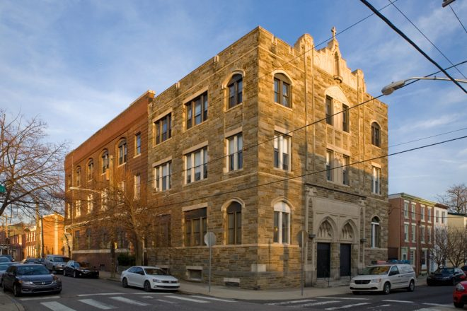 Holy Name School, original (left), 1906, addition (right), 1927 | Photo: Bradley Maule