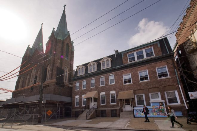 Next door to the shuttered parish, St. Laurentius School carries on | Photo: Bradley Maule