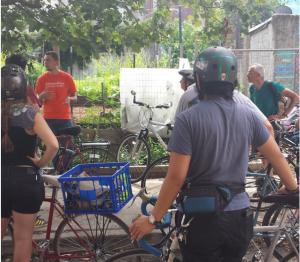 Bike Tour at Growing Home Garden