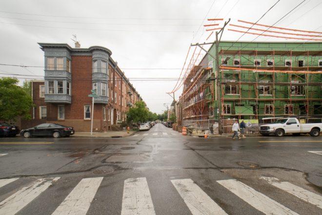 Sidewalk closed, use other side | Photo: Bradley Maule